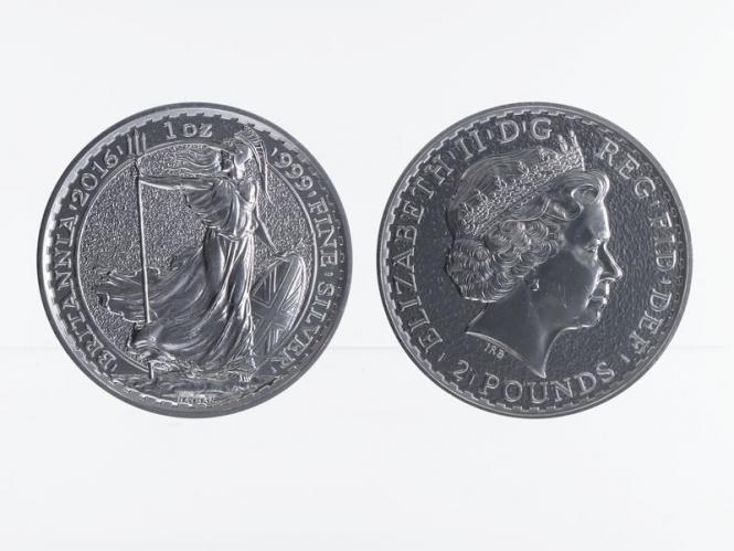 GB 2 Pfd. Silber Britannia 2015, 1 oz