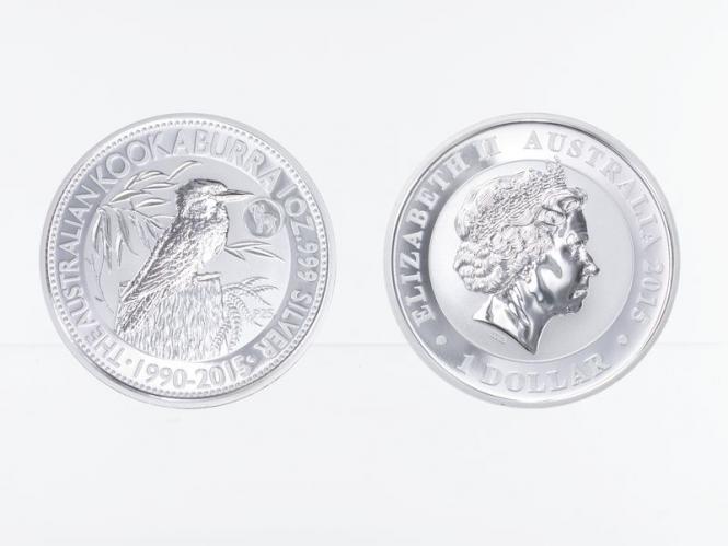 Australien 1$ Kookaburra 2015 Privy Ziege, 1 oz  Silber
