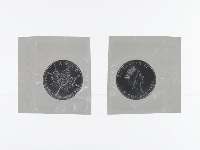 Kanada 5$ Maple Leaf 1993, 1 oz  Silber Folie