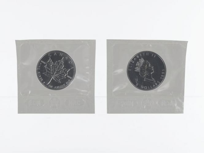 Kanada 5$ Maple Leaf 1995, 1 oz  Silber Folie