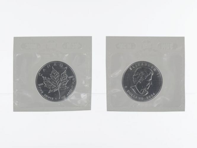 Kanada 5$ Maple Leaf 2004, 1 oz  Silber Folie