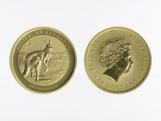 Australien 50 $ Nugget Känguru, 1/2 Unze  2013