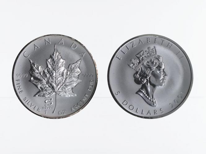 Kanada 5$ Maple Leaf 2001, Privy Mark  Schlange
