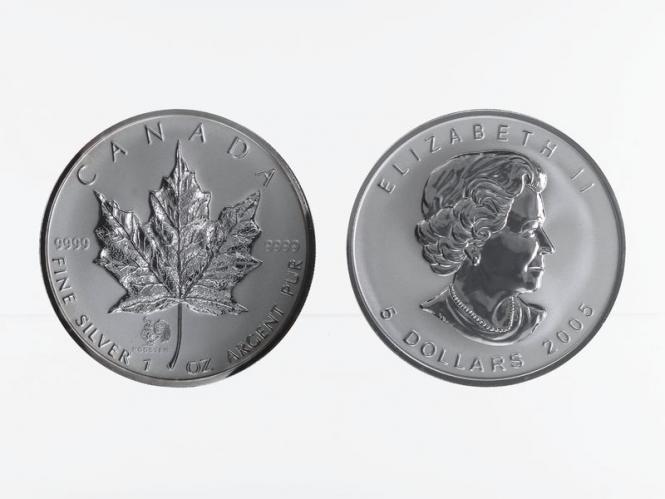 Kanada 5$ Maple Leaf 2005, Privy Mark Hahn