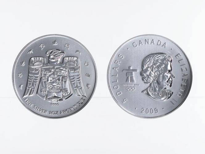 Kanada 5$ Maple Leaf 2009, Privy Mark Vancouver 2010