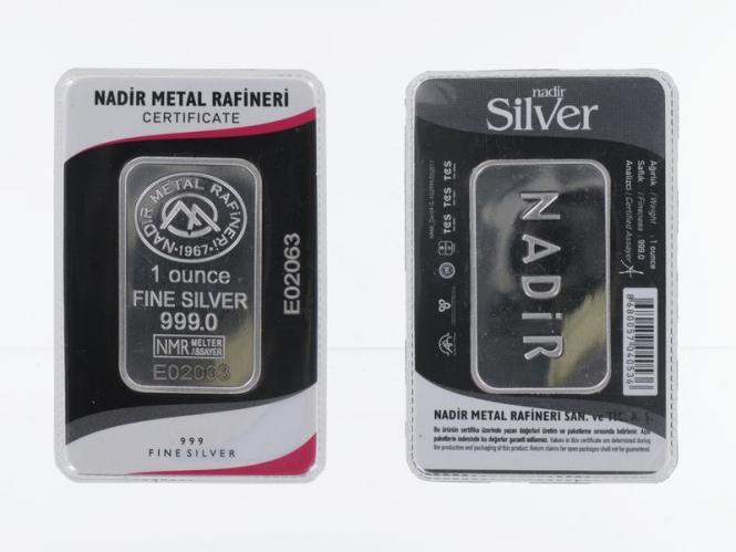 1 Unze Silberbarren 999 Feinsilber Zertifikat