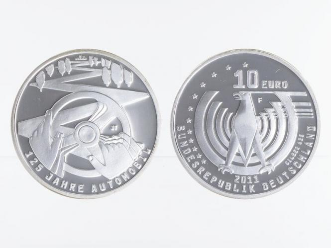 125 Jahre Automobil 10 € Silber 2011, PP