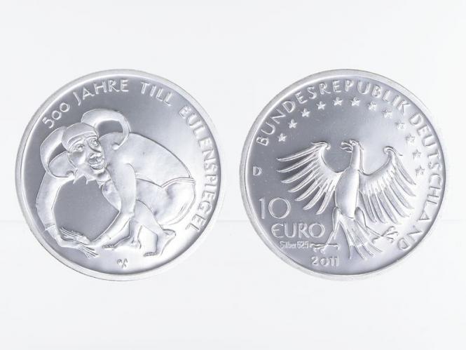 Till Eulenspiegel 10 € Silber 2011, PP