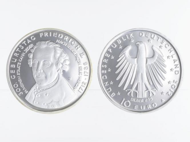 Friedrich II. 10 € Silber 2012, PP
