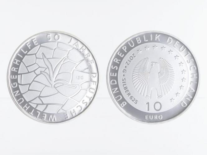 Welthungerhilfe 10 € Silber 2012, PP