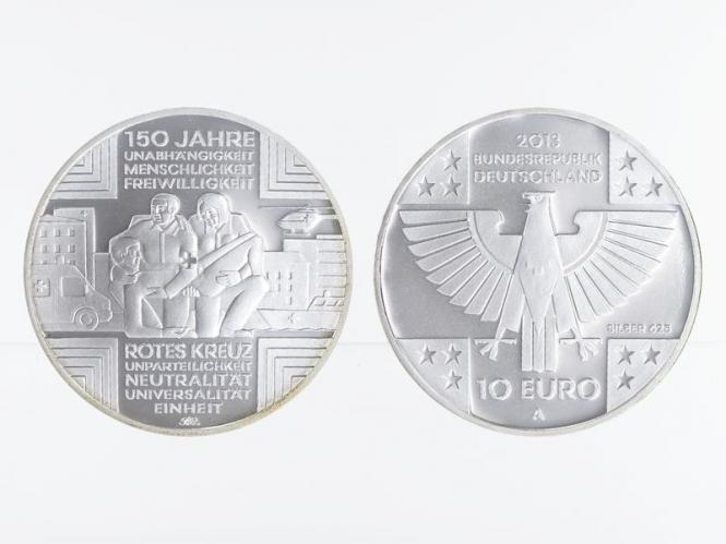 Rotes Kreuz 10 € Silber 2013, PP