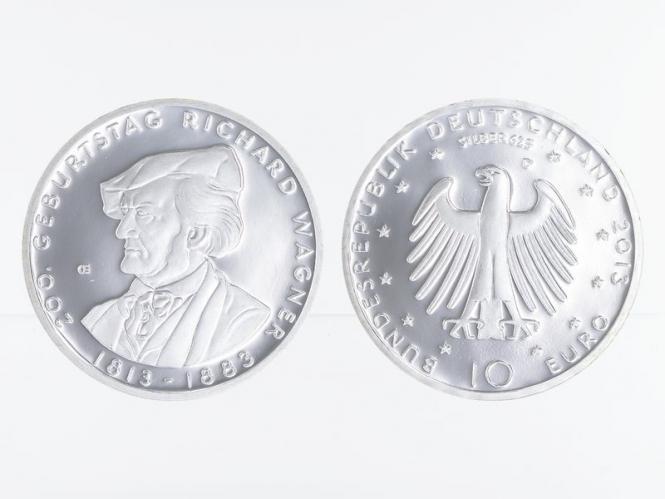 Richard Wagner 10 € Silber 2013, PP