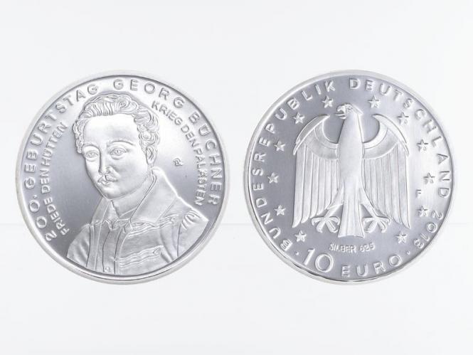Georg Büchner 10 € Silber 2013, PP