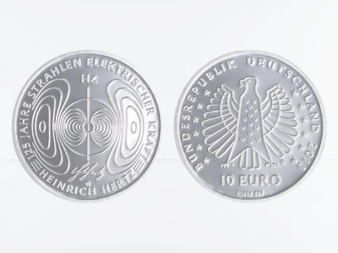 Heinrich Hertz 10 € Silber 2013, PP