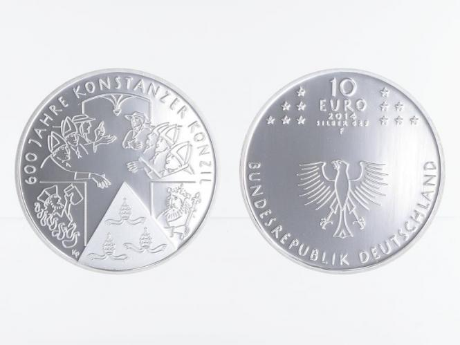 Konstanzer Konzil 10 € Silber 2014, PP