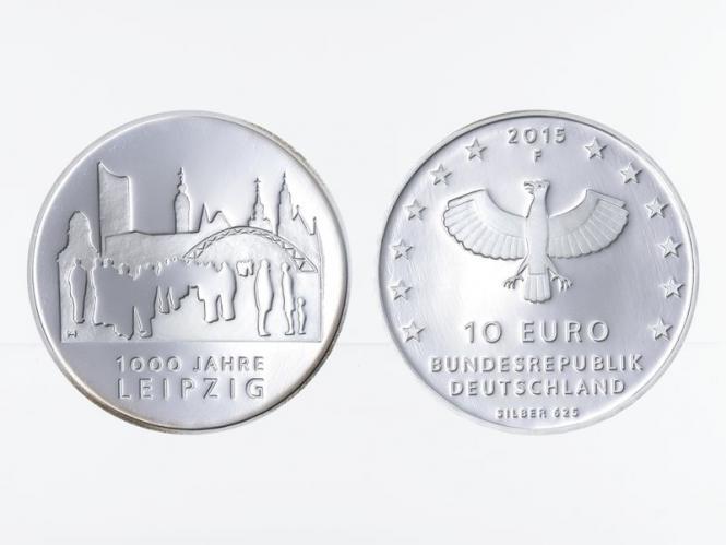 1000 Jahre Leipzig 10 € Silber 2015, PP