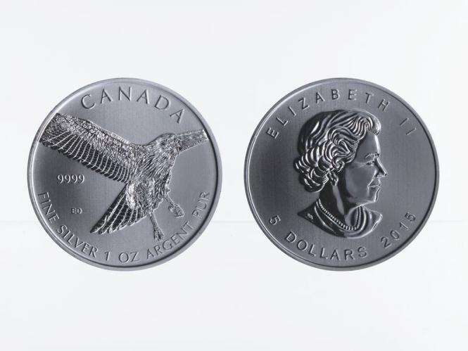 Kanada 5$ Birds of Prey Red-Tailed Hawk 2015