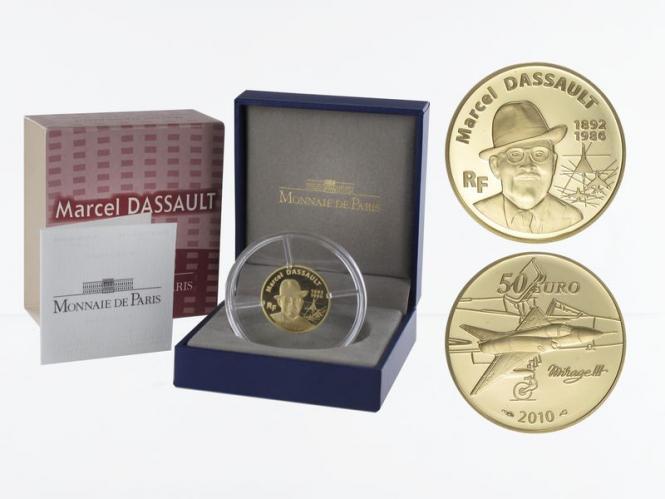 Frankreich 50 Euro Gold, 2010, Marcel Dassault