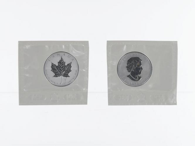 Kanada 5$ Maple Leaf 2004, Privy Mark Skorpion