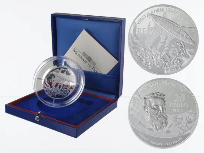 Frankreich 20 €  20000 Meilen unter dem Meer 2005 PP, Silber