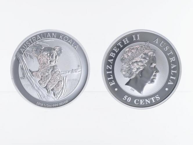 Australien 1/2 $ Koala 2015, 1/2 Unze  Silber