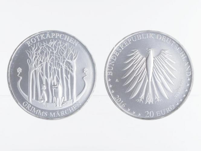 20 € Grimms Märchen Rotkäppchen  Silber 2016