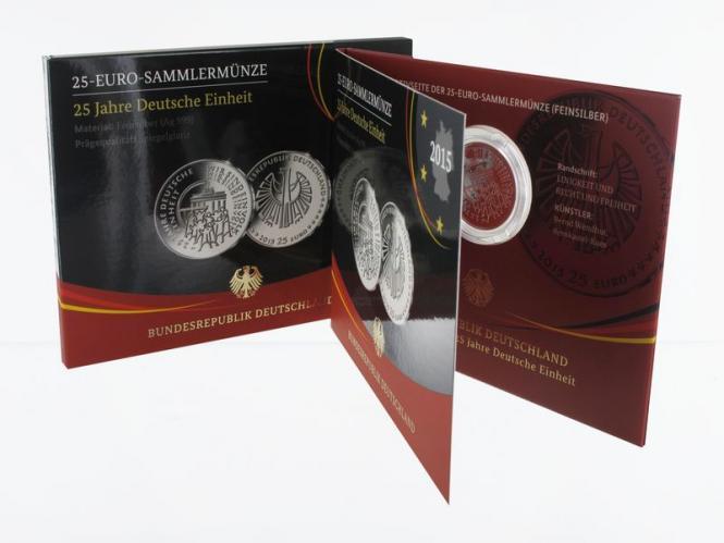 25 € 25 Jahre Deutsche Einheit D, Blister PP