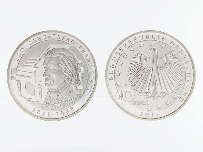 Franz Liszt 10 € Silber 2011