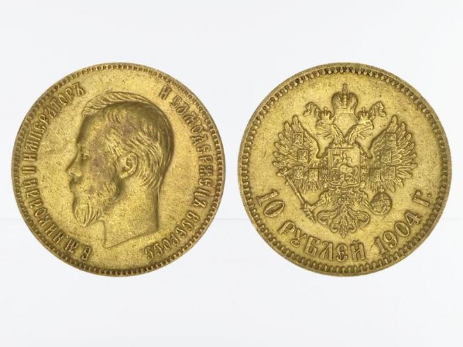 Russland 10 Rubel Nikolaus II,  1904