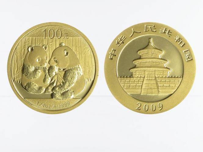 China 100 Yu  Panda 2009, 1/4 Unze Feingold