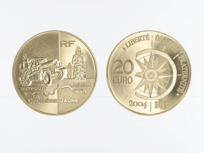 Frankreich 20 Euro Gold, 2004,  Weltreise Auto