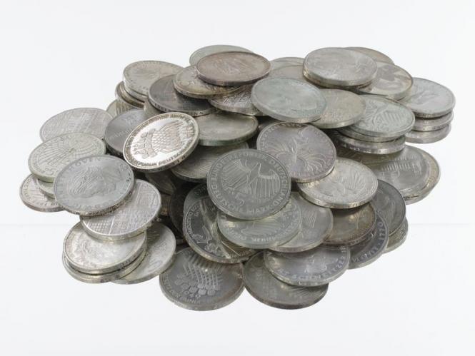 BRD 5 DM Gedenkmünzen 1966-78 (100)
