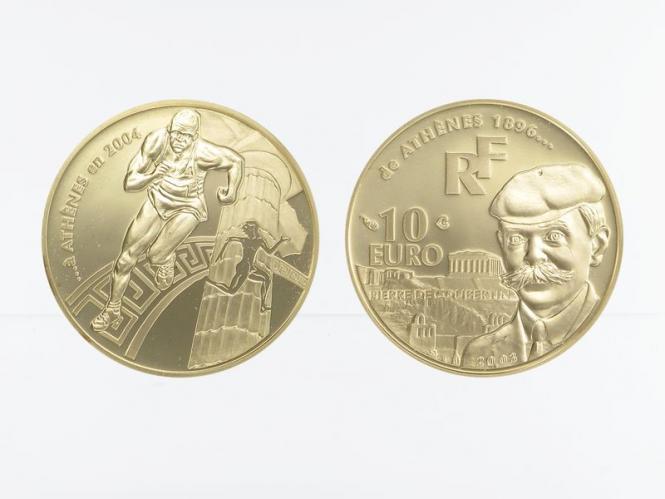 Frankreich 10 Euro Gold, 2003,  Olympiade Athen 2004