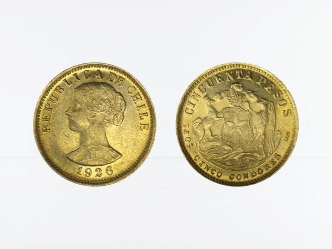 Chile 50 Pesos Freiheitskopf 1926