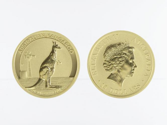 Australien 15 $ Nugget Känguru, 1/10 Unze  2012