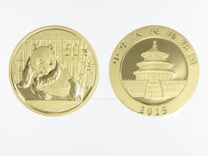 China 50 Yu  Panda 2015, 1/10 Unze Feingold
