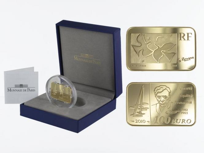 Frankreich 100 Euro Gold, 2010, Georges Braque
