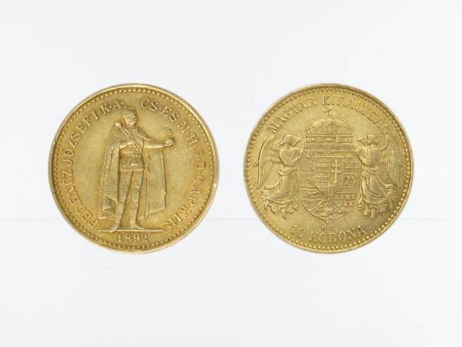 Ungarn 10 Korona Joseph I. 1892