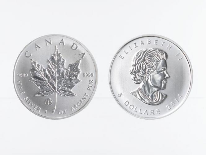 Kanada 5$ Maple Leaf 2014, Privy Mark  F15
