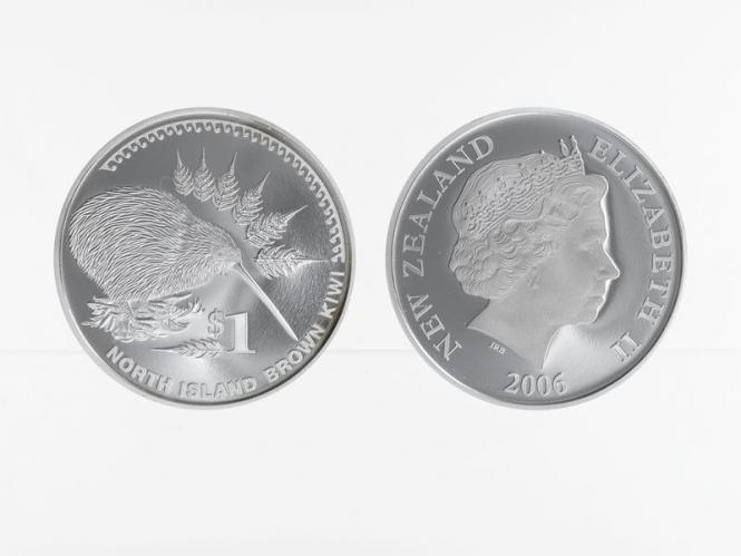 Neuseeland 1$ Kiwi 2006, 1 oz  Silber proof