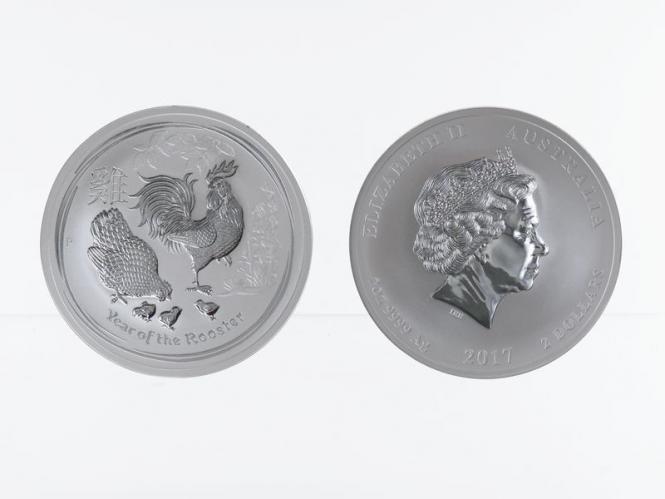Australien 2$ Hahn Lunar II  2017, 2 oz  Silber