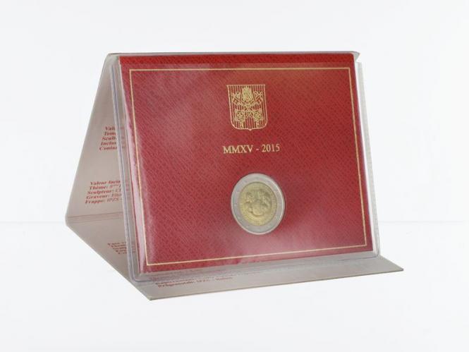 Vatikan 2 Euro Münze, 2015, Weltfamilientreffen Philadelphia