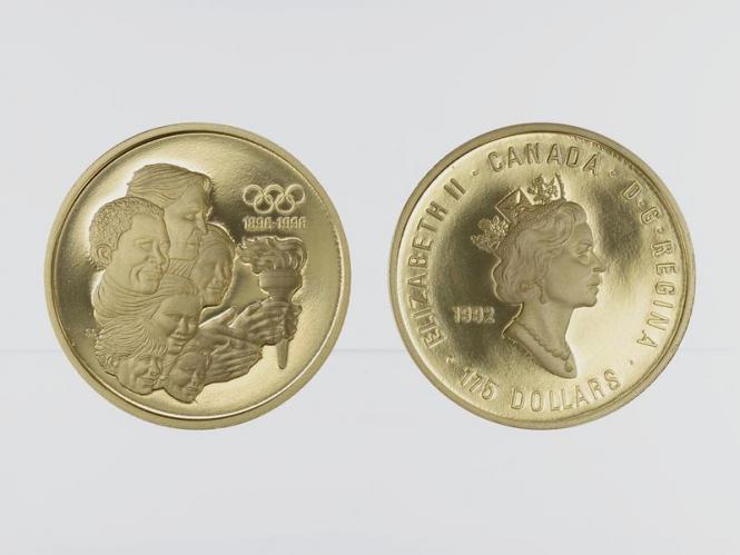 Kanada Olympia 175 Dollars 1992, 1/2 oz proof