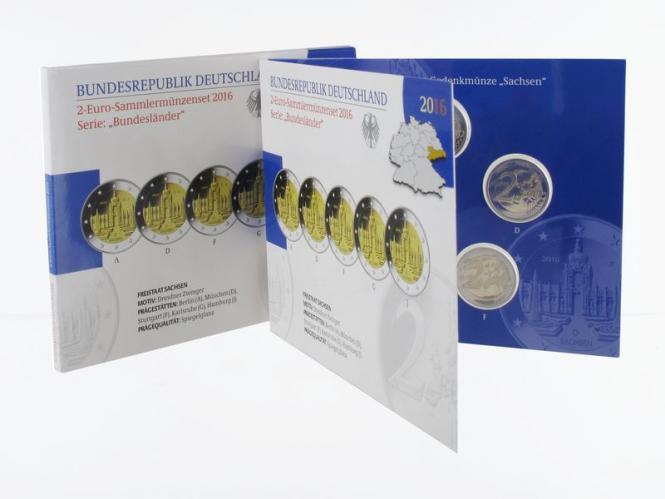 2016 Dresdner Zwinger (5) A D F G J kpl. PP, Faltblister