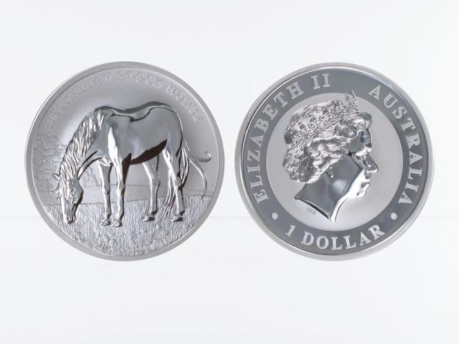 Australien 1$ Stock Horse 2016 Zertifikat, 1 oz  Silber