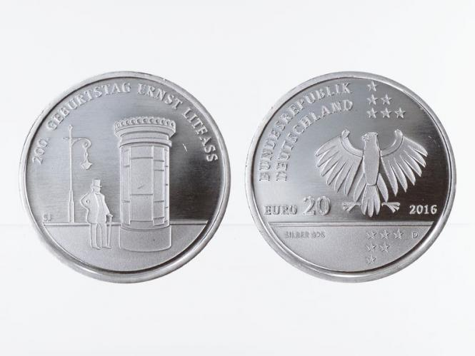 20 € Ernst Litfaß  Silber 2016