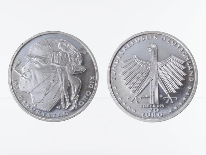 20 € Otto Dix  Silber 2016