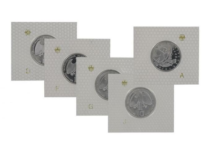 Westfälischer Friede 1998 (5), 10 DM Silber, PP Folie kpl.