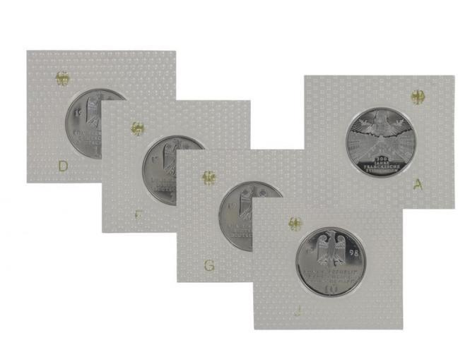 Franckesche Stiftungen 1998 (5), 10 DM Silber, PP Folie kpl.