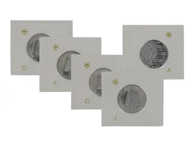 Albert Lortzing 2001 (5), 10 DM Silber, PP Folie kpl.